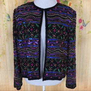 Vintage Beaded Papell Boutique Evening Blazer